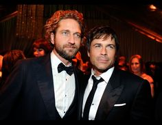 Gerard Butler and Rob Lowe attend The Weinstein Company's 2012 Golden Globe Awards After Party at The Beverly Hilton hotel in Beverly Hills, California (January 15, 2012)