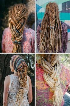 Dreadlock Hairstyles - Dread Plait - Dreadstyles - Dreadlock Love - www.mountaindreads.com Dreadlock Beads - Natural Dread Care - Dreadlock Accessories Dread Tie - Spiralocks #dreadlockhairstyles #dreadbeads #spiralocks