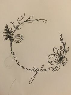 She is a wildflower, tattoo number two design ❤️ Shoulder or thigh piece..