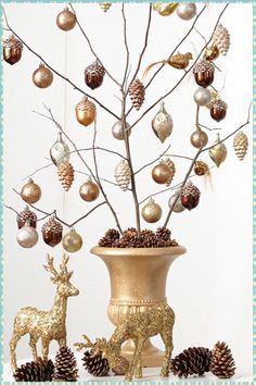 How to make a branch tree (I would add tiny silver frames of family too)