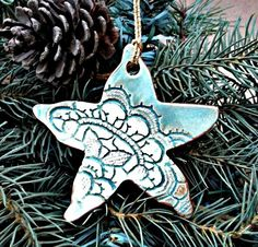 Hey, I found this really awesome Etsy listing at https://www.etsy.com/listing/164068827/ceramic-christmas-tree-ornament-beach