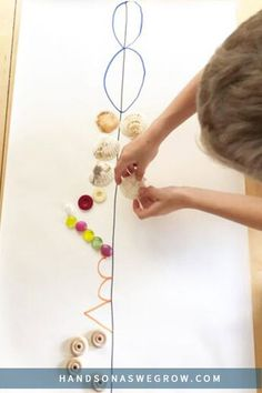 Practice basic math skills while creating a fun little piece of art at home. Preschoolers and older kids will love this quick and easy symmetry activity using loose parts from around the house. #teachmath Symmetry Activities, Motor Skills Activities, Learning Activities, Preschool Activities, Math Skills, Simple Math, Basic Math, Super Simple, Outdoor Activities For Kids
