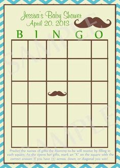 Mustache Baby Shower Games - Printable. $5.00, via Etsy.