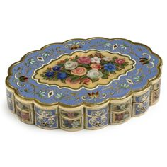A Swiss enameled gold oval snuff box for the Turkish market, circa 1830