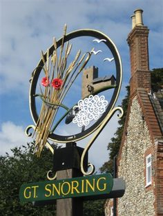Great Snoring, Norfolk's Saxon name was Snaringa after a resident named Snear.