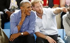 Prince Harry and Barack Obama have rekindled their so-called bromance in a surprise appearance on the basketball court.
