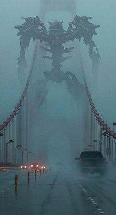 Monster Art, Fantasy Monster, Robot Monster, Dark Fantasy Art, Sci Fi Fantasy, Arte Horror, Horror Art, Epic Art, Amazing Art