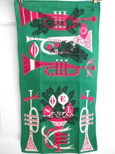Vintage tea towel, Tammis Keefe
