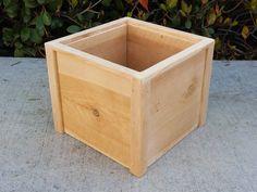 Deluxe Square Cedar Wood Planter Box  Raised Container Garden