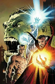 Marvel Comics is gearing up for a new series that will bring the original four Defenders together again. Doctor Strange, Silver Surfer, Namor, and the Immortal Hulk will join for a five-issue arc that will be assembled by an army of classic Marvel talent. Marvel Comics, Marvel Heroes, Marvel Avengers, Marvel Fan, Drawing Cartoon Characters, Character Drawing, Cartoon Drawings, Comic Book Artists, Comic Books Art