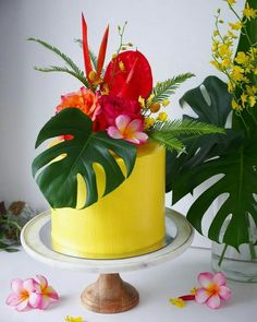 Cake nature fast and easy - Clean Eating Snacks Luau Birthday, Themed Birthday Cakes, Themed Cakes, Hawaiian Birthday Cakes, Luau Theme, Luau Party, Tropical Party Decorations, Cake Decorations, Grands Parents