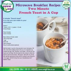Mug Recipes, Fun Baking Recipes, Microwave Recipes, Yummy Recipes, Cooking Recipes, Yummy Food, Healthy Eating Recipes, Healthy Foods, Microwave Breakfast