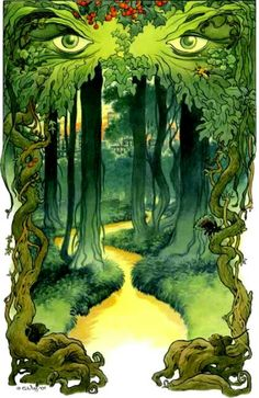 Green Man illustration by Charles Vess
