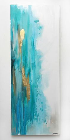 Waterfall Blue 46x120cm by StaceyWrightART