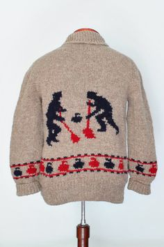 Curling Sweater New hand knit wool cardigan by CampKitschyKnits, $139.00