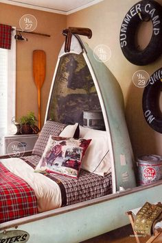 Awesome Camping Bedroom Decor - adventure and living Camping Bedroom, Kids Bedroom, Fishing Bedroom Decor, Rustic Fishing Decor, Nautical Bedroom, Nautical Theme, Deco Marine, White Bedding, Bedding Sets