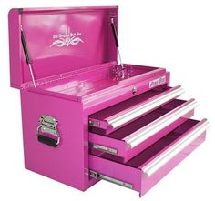 tools every diy girl should have {starter home...}--------seriously? girls have to have pink? really? really? every girl needs a pink toolbox to go with her pink tools and her girly pink gun? really?