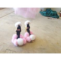 ☁️ FLOATING ON FLUFF'N CLOUDS ☁️ living our fairytales ✨ #warehouse #renovations #dyspnea #custom #made #shoes #fluffy #toes #iswhatagirlwants #paris #tomorrow