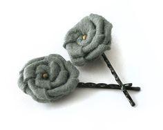 felt flower bobby pins