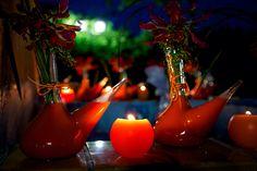 Decoracion en naranja, con gloriosas Fotografía de Alphelia Produccions El Taller de Joan