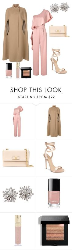 """""""Glams-Giving"""" by southernpearlgir ❤ liked on Polyvore featuring Miss Selfridge, Agnona, Salvatore Ferragamo, Giuseppe Zanotti, Chanel, Smith & Cult and Bobbi Brown Cosmetics"""