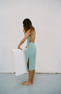 mint strappy open back dress #style #fashion #summer