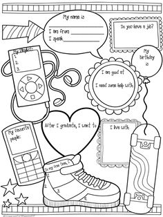 Getting to Know Know Activity for High School ESL - A Classroom For All Seasons The Effective Pictures We Offer You About High School activities A quality picture can tell you many things. Get To Know You Activities, All About Me Activities, English Activities, School Icebreakers, High School Activities, High School Counseling, School Counselor, All About Me Worksheet, Back To School Worksheets