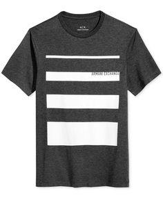 b87ae5486 Armani Exchange Men's Stripe T-Shirt & Reviews - T-Shirts - Men - Macy's