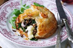 Mushroom  and Camembert Wellingtons: http://realfood.tesco.com/recipes/mushroom-and-camembert-wellingtons.html?sssdmh=edc3.631530_campaign=nl201238fw_source=nlfw_medium=email_content=rf1#