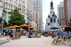 Campus Martius Park's transformation into an upstate-Michigan-style beach had a huge impact on downtown.