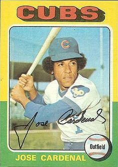 May 2, 1976 -   The Chicago Cubs defeat the San Francisco Giants 6-5 in 14 innings. Jose Cardenal goes 6 for 7 with four RBI, including a double and a home run.  Photo from Bleed Cubbie Blue who has Cardenal as #86 on the all-time list of Chicago Cubs.     http://sbn.to/KnCMPH