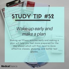 Start being a morning person, today! Med Student, Student Studying, Student Reading, Reading School, Study Motivation Quotes, Study Quotes, Quotes Quotes, Study Techniques, Study Methods