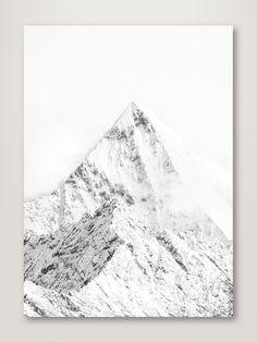 Mountain Top White - 30x40cm / No frame