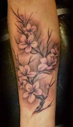 Cherry Blossoms on arm tattoo