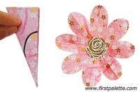 Step 9a Folding Eight-Petal Paper Flower Craft