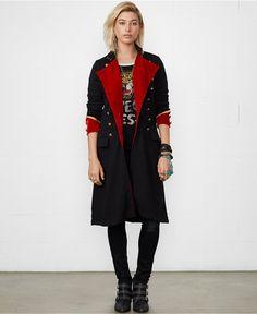 Denim & Supply Ralph Lauren Double-Breasted Military Maxi Coat - Coats - Women - Macy's