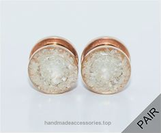 Handmade Pearl Crushed Glass on Rose Gold Plugs – 8g to 1 inch  Check It Out Now     $28.00    A pair of unique and gorgeous pearl crushed glass on rose gold plugs. The pearl glass is sealed in such a beautiful w ..  http://www.handmadeaccessories.top/2017/03/16/handmade-pearl-crushed-glass-on-rose-gold-plugs-8g-to-1-inch/