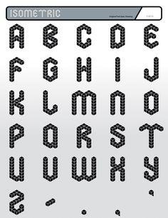 Isometric Font (5100×6600)