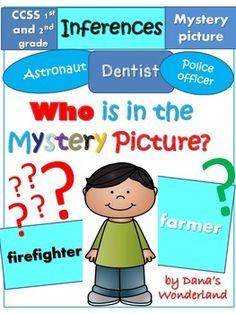 """Read the passages and use higher order thinking skills to discover who is in the """"mystery"""" pictures!Change the hard task of making inferences into a game!The """"Who is in the Mystery Picture?"""" product  is a great way to practice some very important skills in reading:infer information that is not explicitly stated in the text and identify the clues in the text that helped you make the inference.The product contains 50 pages.Included:* 10 texts*10 """"mystery""""…"""