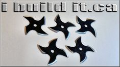 Making Shuriken (Ninja Throwing Stars) Diy Wood Projects, Projects To Try, Apocalypse Gear, Ninja Star, Homemade Weapons, Shuriken, Stars, Fun, Kakashi