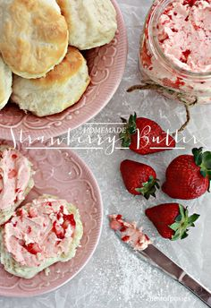 This is a delicious homemade strawberry butter recipe. One you'll want to keep, eat and give as gifts. This homemade strawberry butter recipe is a… Flavored Butter, Homemade Butter, Butter Recipe, Homemade Recipe, Strawberry Butter, Strawberry Recipes, Strawberry Sweets, Strawberry Picking, Angel Food Cake Desserts
