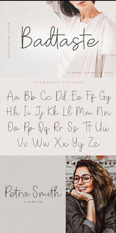 Badtaste Elegant Signature Font - Fonts - Ideas of Fonts - Badtaste Elegant Signature Font. Calligraphy Fonts Alphabet, Handwriting Alphabet, Hand Lettering Alphabet, Cute Handwriting Fonts, Full Alphabet Fonts, Script Fonts, Graffiti Alphabet, Monogram Fonts, Monogram Letters