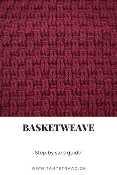 Trin for trin billedguide til hvordan du hæklert Basketwaves hæklemønsteret Stitch Patterns, Crochet Patterns, Chrochet, Basket Weaving, Crochet Stitches, Dyi, Charts, Crocheting, Sewing Crafts