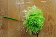 DIY paper flowers DIY fleurs en papier de soie