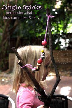 Jingle Sticks - percussion instrument craft for kids – Danya Banya