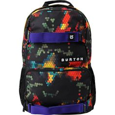 Burton Treble Yell Digi Abstract Floral Skate Backpack