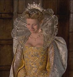 Shakespeare in Love (1998) Gwyneth Paltrow as Viola De Lesseps presented at court #CostumeDesign: Sandy Powell