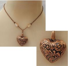 Copper Heart Pendant Necklace Jewelry Handmade NEW Adjustable Accessories #Handmade #Chain https://www.ebay.com/itm/152871845860