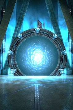 Fondo de Pantalla de portal Stargate para iPhone #stargate #portal #iphone #fondo #seriestv