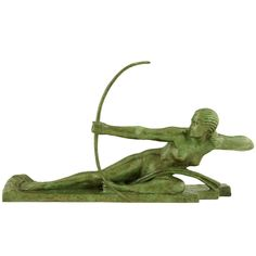 Art deco bronze, Penthesilia, Queen of the Amazons, by Marcel André Bouraine (1886-1948).